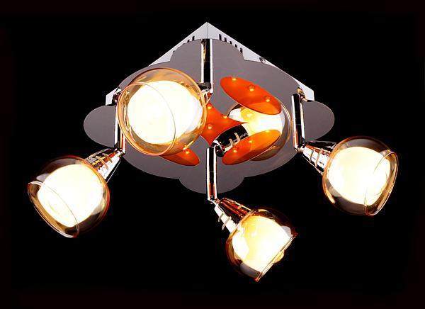 Светильники потолочные точечные накладные светодиодные в виде люстры
