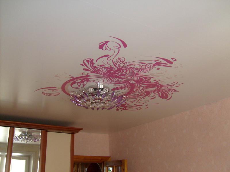 декор потолка своими руками фото