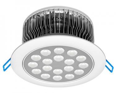 Оребрение сверху - это как раз радиатор для отвода избыточного тепла от светодиодов.