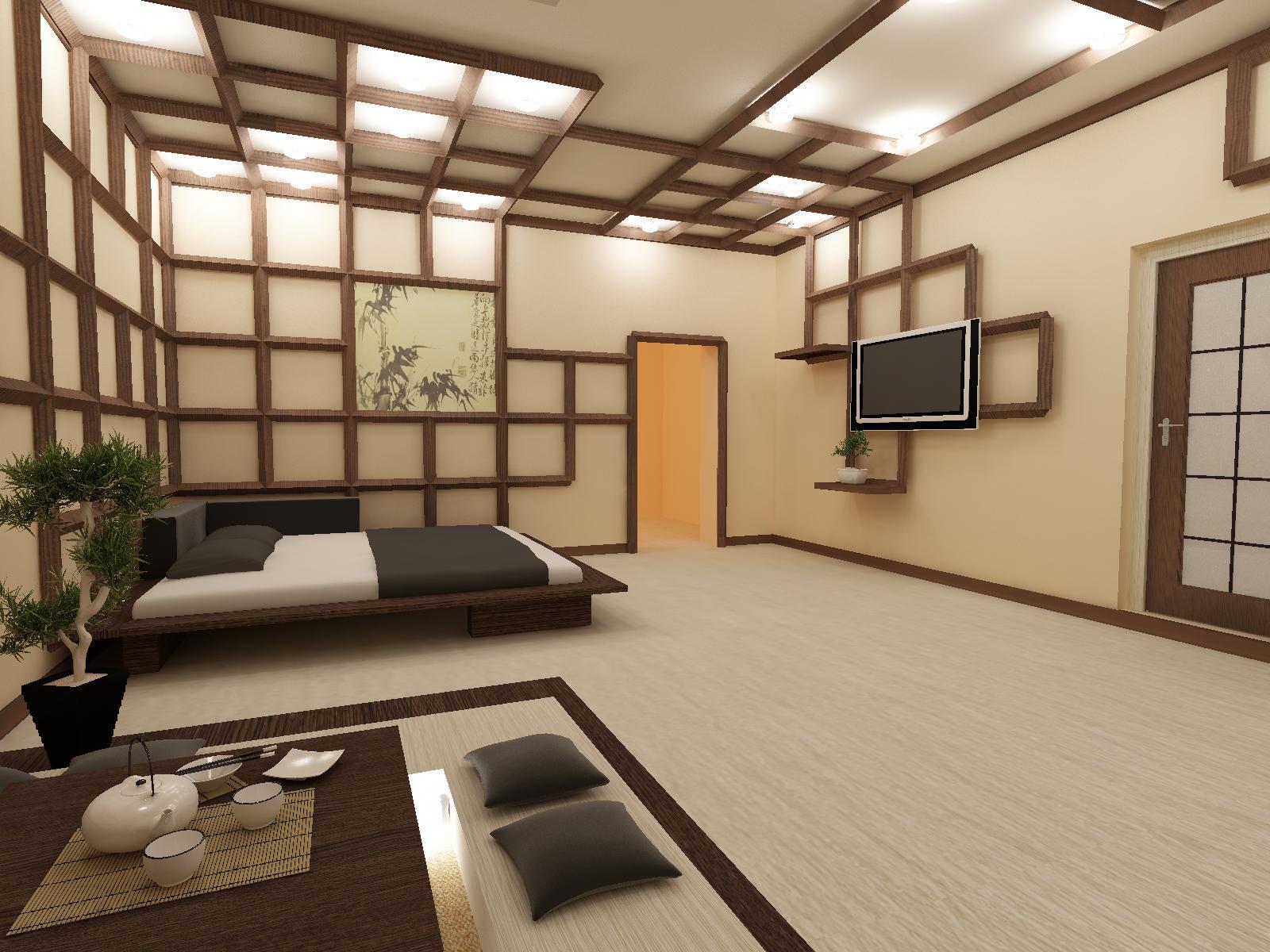 Гостиная в японском стиле: фото сочетаний традиций и совреме.