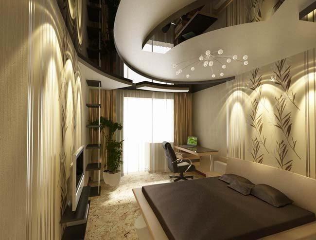Оформление комнаты с низкими потолками