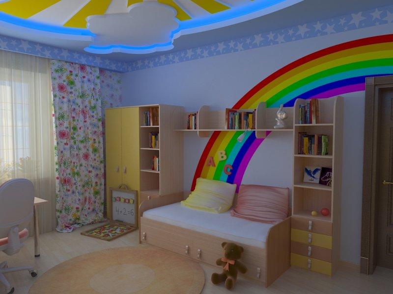 Потолок в детской комнате мальчика своими руками