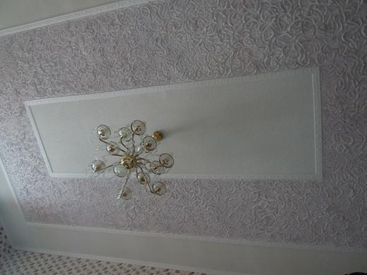 Потолок фактурной штукатуркой своими руками