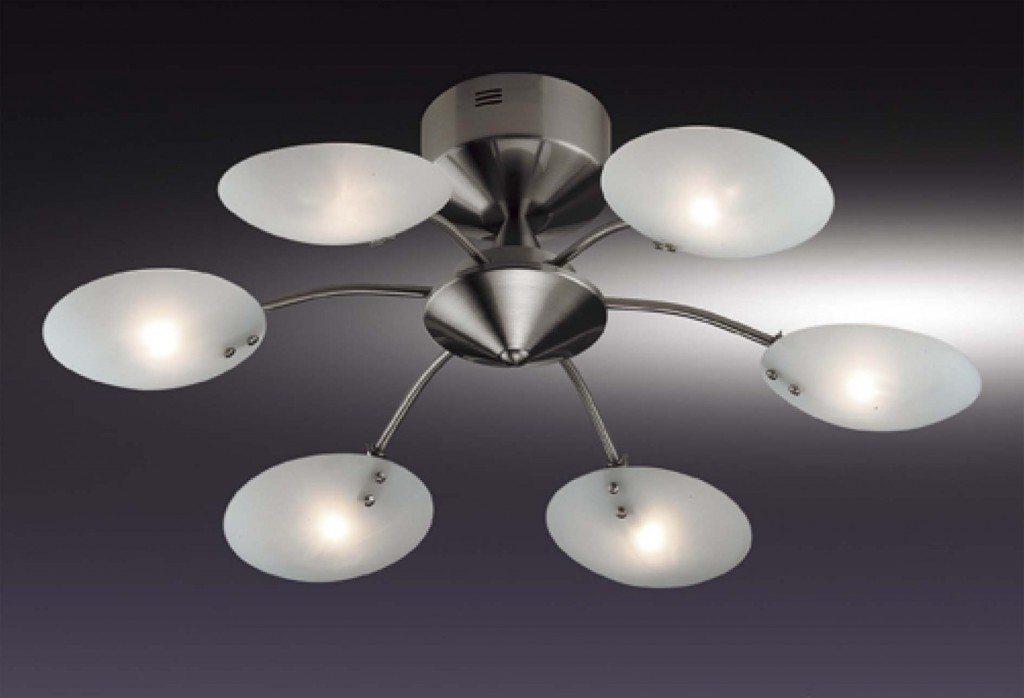 Один из компромиссных вариантов. В сочетании с яркими энергосберегающими или светодиодными лампами может создать нужное нам освещение без вреда для потолка.
