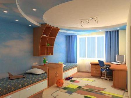 Такой дизайн потолка подойдет для комнаты ребенка любого возраста