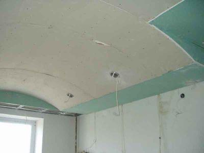 Свод можно также организовать с некоторым отступом от стен