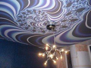 Муаровый узор на потолке – уникальное наложение рисунков