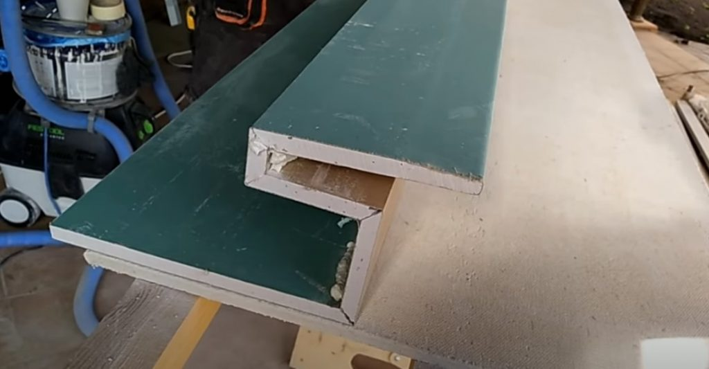 Парящий потолок и фрезерование гипсокартона