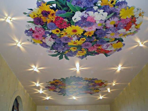 Пример потолка с арт-печатью