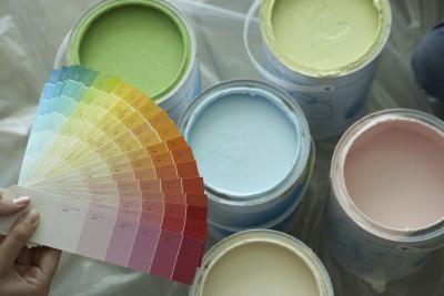 Белой краске можно придать любой цвет или оттенок
