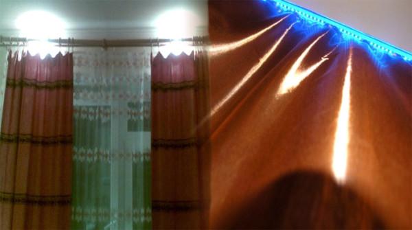 Благодаря подсветке помещение можно превратить в изюминку общего интерьера