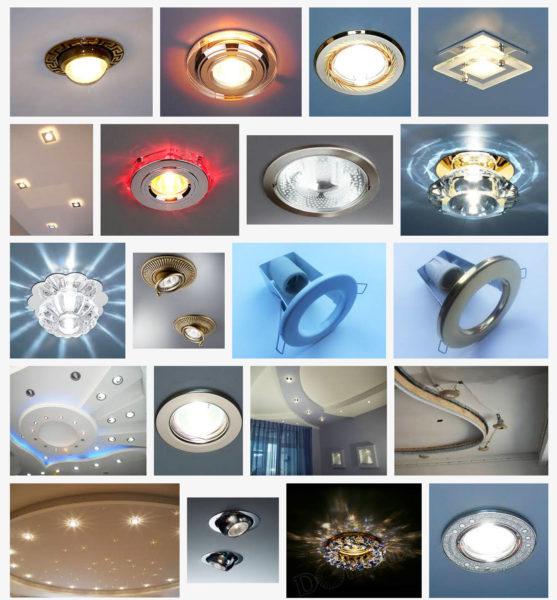 Чаще всего для локального освещения используются точечные светильники.