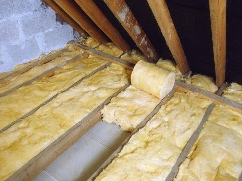 Утепление потолка со стороны чердачного помещения