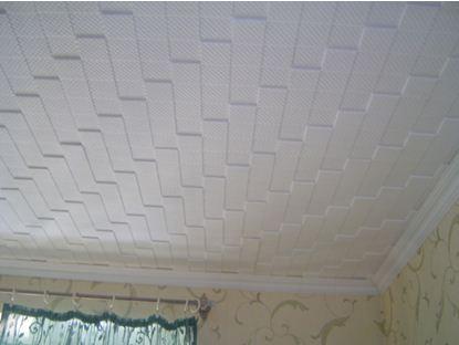 Что поклеить на потолок: потолочная плитка
