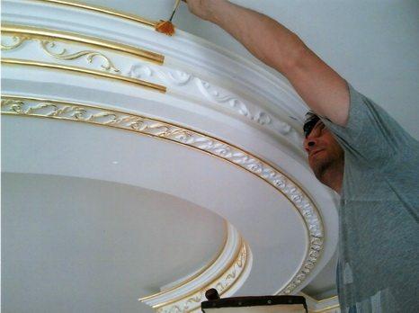 Потолочные плинтуса своими руками фото