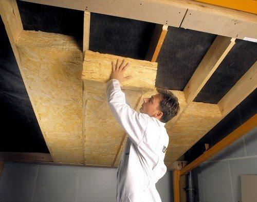 Пример утепления потолка в доме