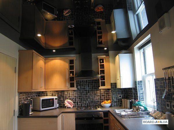 ичневые потолки лучше всего подойдут для кабинетов, т.к. этот цвет может создать ощущение стабильности. В квартирах коричневые потолки встречаются очень редко.  [caption id=