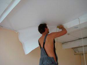 Как сделать натяжной тканевый потолок своими руками