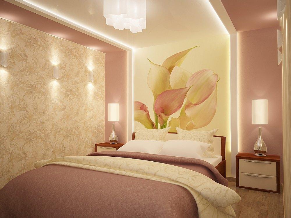 Потолки из гипсокартона для спальни (80) 32