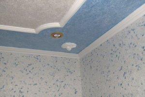 декоративная штукатурка фото на потолок