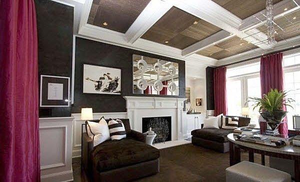 Пример декорирования балок на потолке