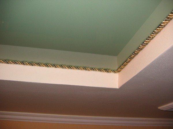 Пример декоративного шнура для потолка