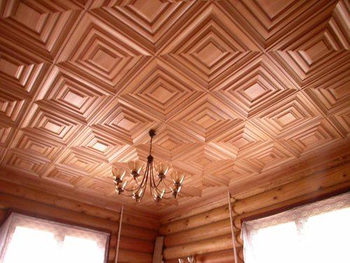 Потолочные плиты из древесины любых ценных пород производятся в огромном ассортименте