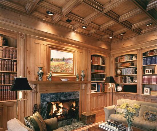 Окантовка брусом подчеркнет добротный классический стиль помещения