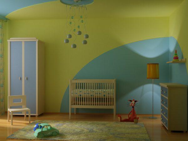 Детская, окрашенная водоэмульсионными красками