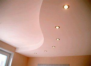 Диагональный гипсокартонный потолок