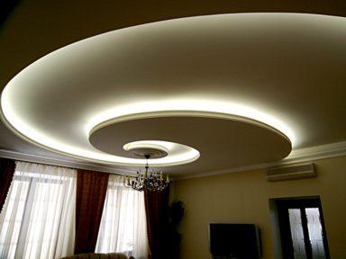 Светодиодная подсветка на натяжных потолках