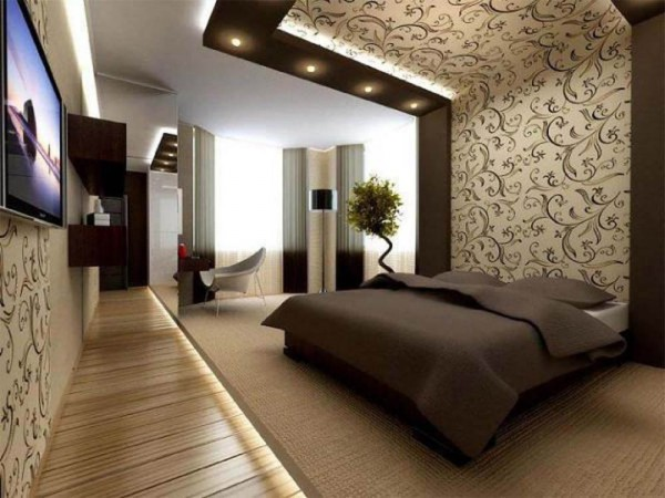 Дизайн потолка спальни