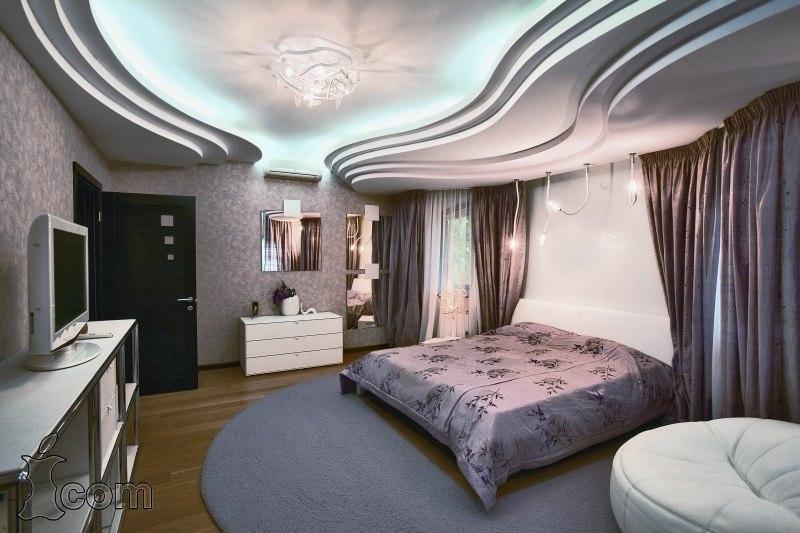 Волнообразные потолки из гипсокартона