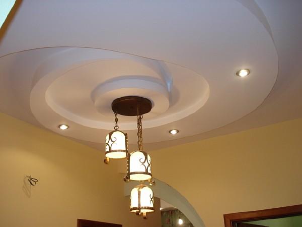 Спиралевидные потолки из гипсокартона