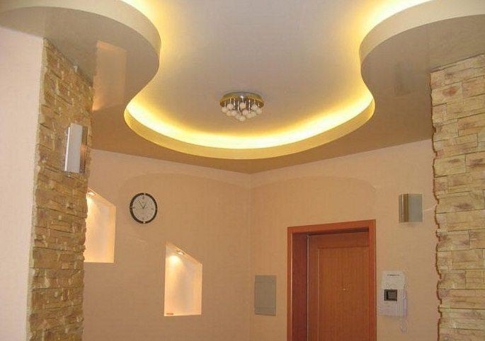 Несложный дизайн в оформлении квартиры гипсокартоном