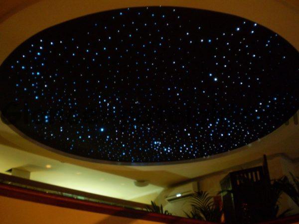 Дизайн покрытия в виде ночного неба.