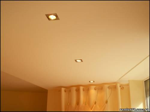 Один уровень гипсокартона для потолка на кухне – оптимальный вариант