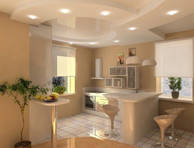 Гипсокартон - уникальная находка как для престижных вилл, так и для небольших кухонь