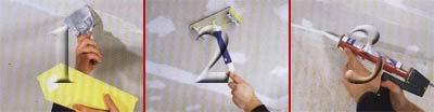 Шпаклевание подвесного потолка из гипсокартона