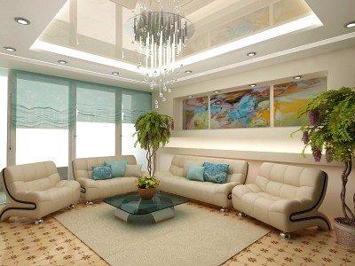 Точечные светильники для натяжных потолков: варианты размещения и техника безопасности