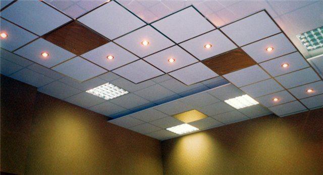 Наша задача - подобрать для нового подвесного потолка правильные лампочки.