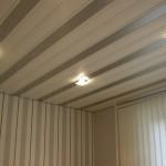 Двухцветный пластиковый потолок