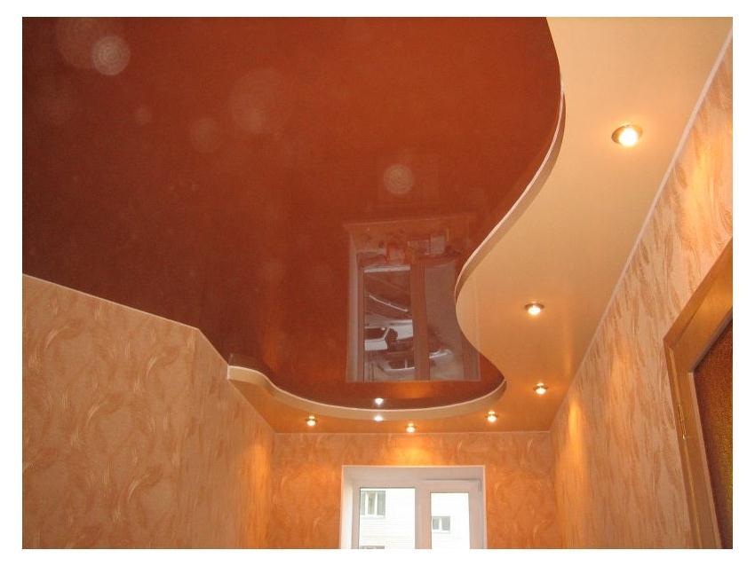 2х уровневые натяжные потолки