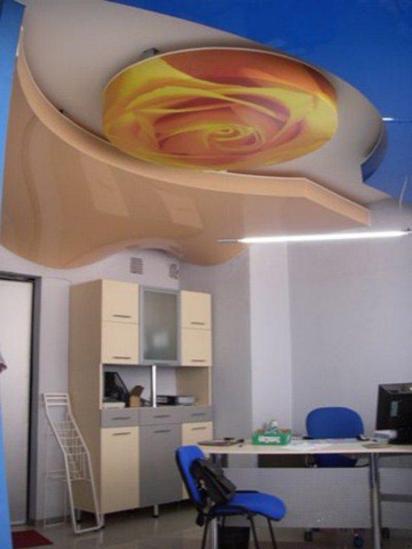 Эмоциональная и художественная выразительность расписного гипсокартонного потолка с фотопечатью несравнима ни с чем