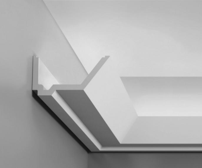 Фасонная галтель с пазом для LED-ленты