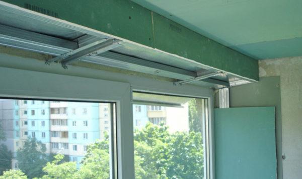 Фото двухуровневого потолка с обшивкой из ГКЛ