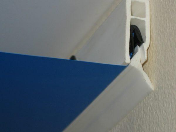 Фото галтели в конструкции натяжного потолка в разрезе