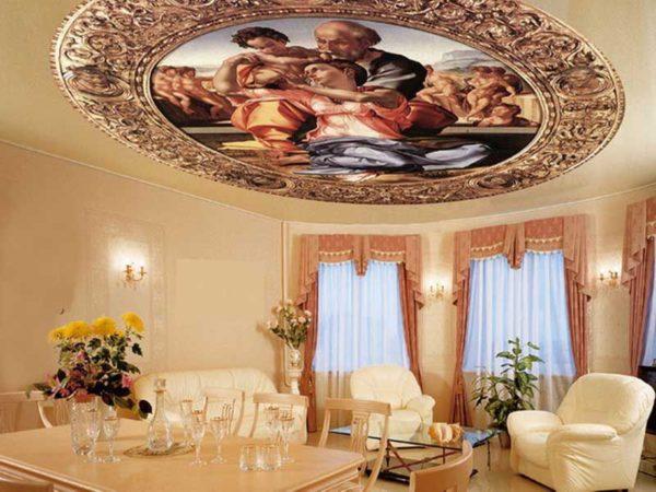 Фотопечать уместна лишь при совпадении ее рисунка с общей концепцией комнаты.