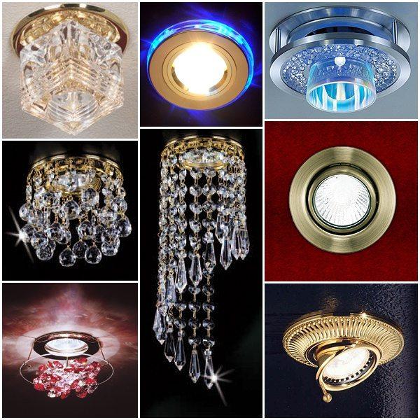 Виды встраиваемых галогенных светильников для подвесных потолков