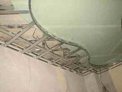 Готовая обрешетка для крепления листов гипсокартона